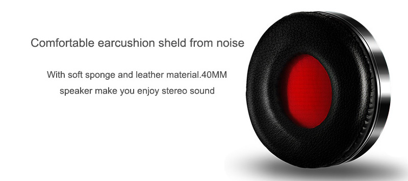 Foto of earcushion Wireless foldable headphones with mic. Foldable wireless earphones for mp3