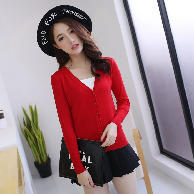 2020 New Sweater Women Cardigan Knitted Sweater Coat Long Sleeve Female Casual V-Neck Short Woman Cardigans Tops LX1483