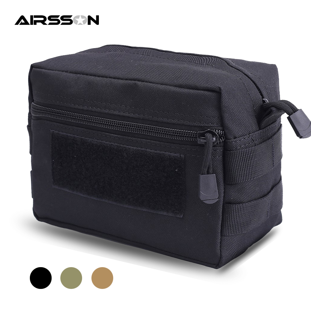 Tactical Molle Pouch 1000D Nylon Men Military Waist Bag Utility EDC Gear Belly Pouch Airsoft Ammo Holster Hunting Accessory Bags
