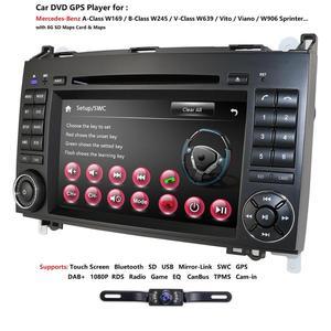 Image 3 - Ossuret Car In Dash DVD Player For Mercedes Benz W169 A150/A160/A170/A180/A200 W245 B160/B170/B180/B200 W639 Vito/Viano GPS Navi