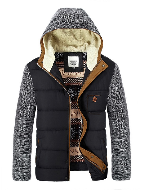 3XL Winter Wear Jackets Men 39 s Coats Thick Fleece Stand Collar Men 39 s Jackets Casual Solid Male Cotton Outerwear Warm in Parkas from Men 39 s Clothing