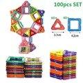 100 STÜCKE/50 stücke Magnetische Bausteine Magnetische Designer Bau Set Modell Gebäude Magnete Magnetische Blöcke Pädagogisches Spielzeug