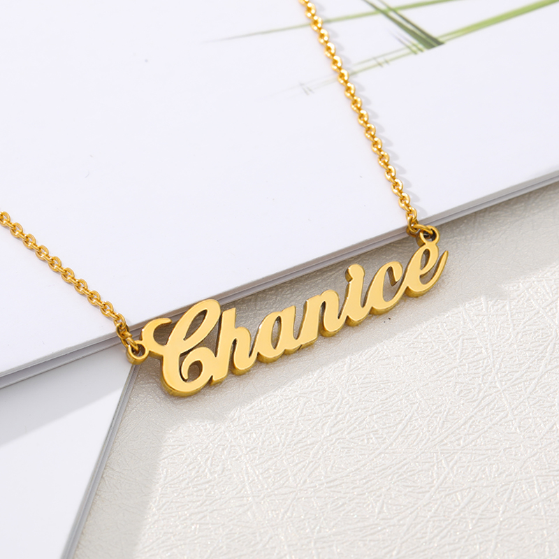 Stainless Steel Choker Custom Name Necklace Personalized Jewelry Men Handmade Nameplate Pendant Necklaces Women Best Friend