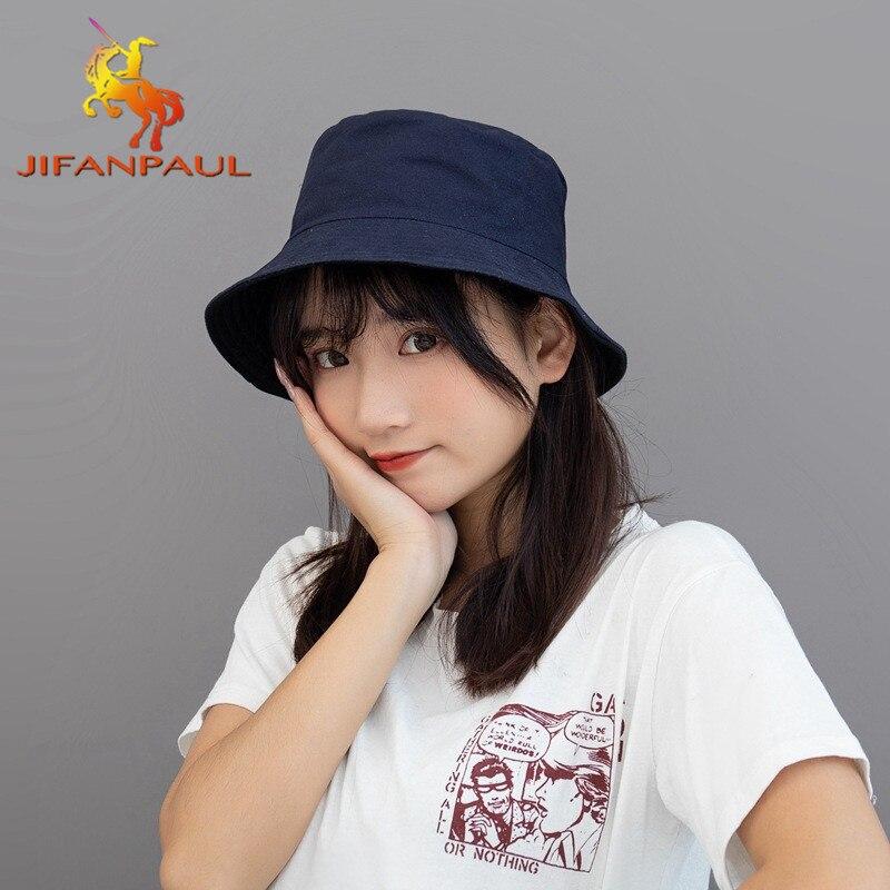 JIFANPAUL de doble cara de color sólido visera de primavera y verano transpirable protector solar de moda de alta calidad sombrero de pescador de las mujeres
