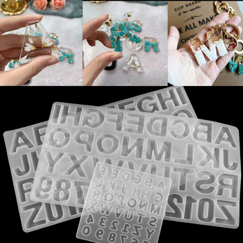 1 Uds. Alfabeto inglés Moldes de resina epoxi moldes de fundición de silicona de estilo mixto para hacer joyas DIY, accesorios de accesorios