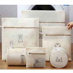1 Juego de bolsa de lavandería con cremallera, bolsas de malla para lavar ropa de viaje, bolsa organizadora de ropa interior, bolsa organizadora para lavar Lencería de sujetador