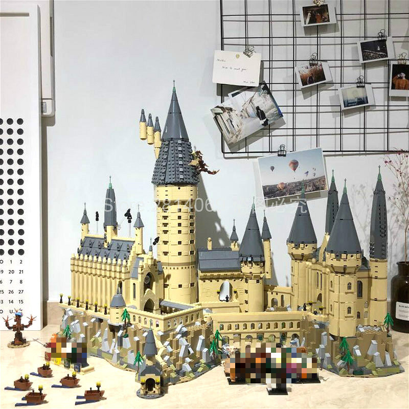 16060 Potter Movie Castle Magic H Warts School Model 6742Pcs Building Block Bricks Toys Compatible With 71043 Gift For Children