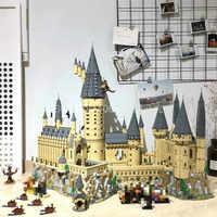 16060 Potter Movie Castle Magic H warts School Model 6742Pcs Building Block Bricks Toys Compatible with 71043 Gift For Children