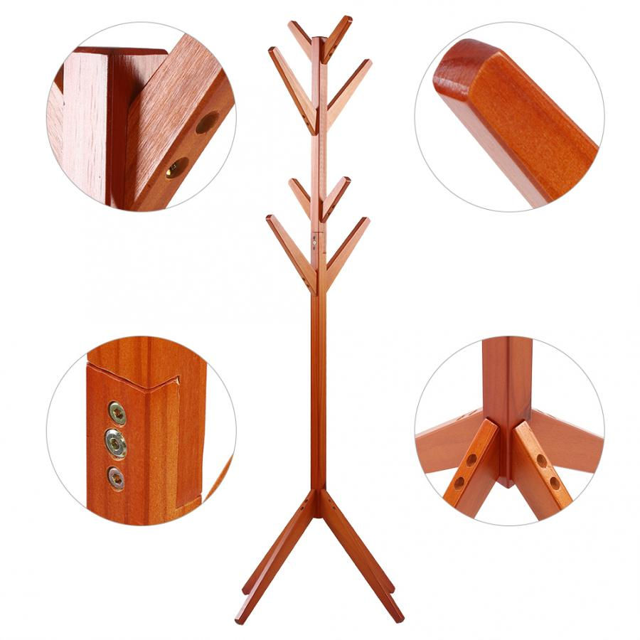 Image 5 - Pine Coat Clothing Rack Clothes Scarfs Hanging Stand Disassembled Hanger for Home Use Coat Pine Rack-in Hangers & Racks from Home & Garden