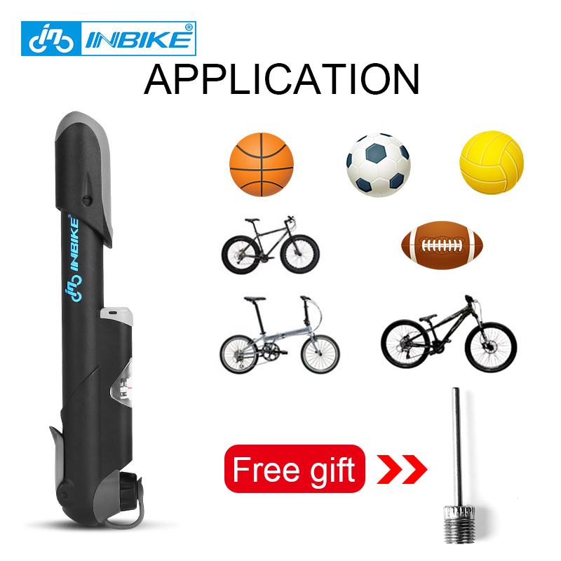 Discount╟INBIKE Toy Tire Bicycle-Pump Inflator Hand-Pump Presta-Valve Schrader MTB Cycling Mini