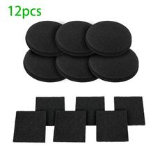 1 Pcs Activated Carbon Filter Sponge Square Round Compost Filter Cotton Deodorant Activated Carbon Kitchen Barrel Compost 220v 493 solder smoke absorber esd fume extractor with 5 free activated carbon filter sponge