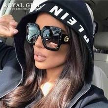 Square Sunglasses Oversize Retro-Gradient Vintage Designer Luxury Women Brand Ce Ss200