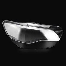 フロントヘッドライトヘッドライトガラスマスクランプカバー透明シェルランプマスクアウディ A6L C7 pa 2016 2018