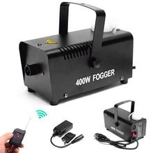 Мини 400 Вт дымовая машина/насос DJ диско машина тумана для дома вечерние Рождество/беспроводной пульт дистанционного управления 400 Вт сценическая фоггер машина