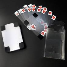 New Board Game Creative Transparent Plastic Crystal Waterproof Poker Cards Games Entertainment Party For Adult Children taluva board game 2 4 players cards game classic tactics games send english instructions for friends family party entertainment