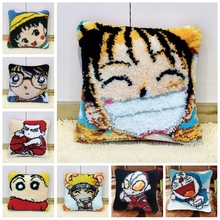 One Piece Embroidery Pillow Luffy Button Package Needle For Carpet Embroidery DIY Everything For Handmade Latch Hook Cartoon иглы latch needle sk 860