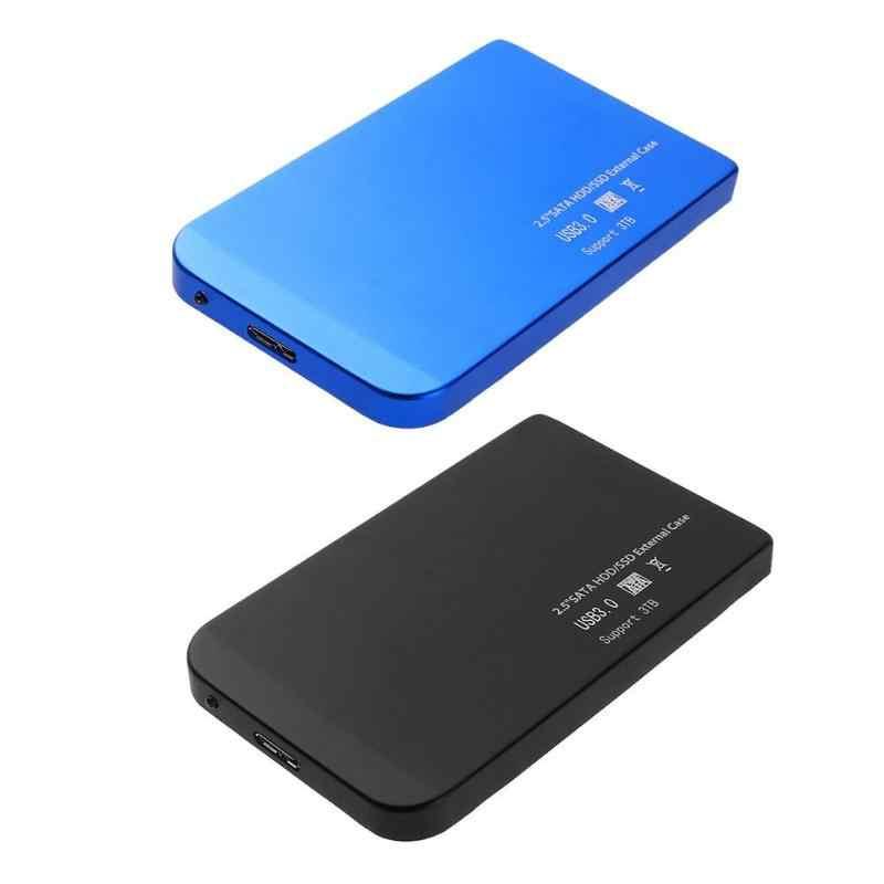 HDD Case 2.5 بوصة USB 3.0 رقيقة جدا SATA وسيط تخزين ذو حالة ثابتة/ القرص الصلب قفص الاتهام الضميمة عالية السرعة سبائك الألومنيوم علبة صلبة متنقلة عالية السرعة