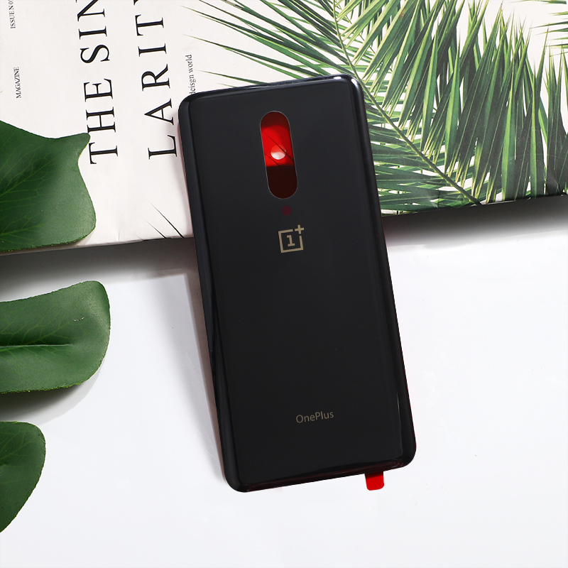 7Pro Original Glass Rear Housing Cover For Oneplus 7 Pro One Plus Back Door Repair Replacement Battery Case + Sticker Glue