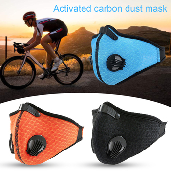 Double Breathing Valve PM 2.5 Mask Activated Carbon Filter Anti Dust Mask Anti Bacterial Mask Flu-proof Mouth Mask Cycling Masks