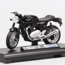1/18 Schaal Welly Retro Triumph Thruxton 1200 Cafe Racer Bike Moto Voertuig Uithoudingsvermogen Racing Moto Rcycle Diecast Model Toy Replica
