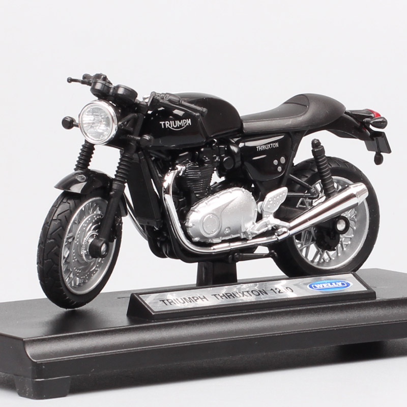 1/18 Scale Welly Retro Triumph Thruxton 1200 Cafe Racer Bike Moto Vehicle Endurance Racing Motorcycle Diecast Model Toy Replicas