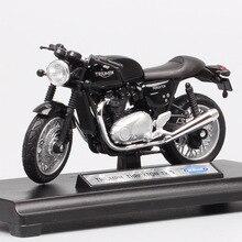1/18 skala welly retro Triumph Thruxton 1200 cafe racer bike moto fahrzeug ausdauer racing moto rcycle diecast modell spielzeug Repliken