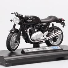 Welly vehículo de carreras retro Triumph Thruxton 1/18 cafe racer, juguete en miniatura, moldeado a presión, réplicas