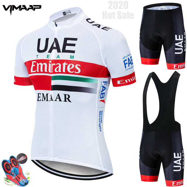2019 Team UAE Cycling Jerseys Bike Wear clothes Quick Dry bib gel Sets Clothing Ropa Ciclismo