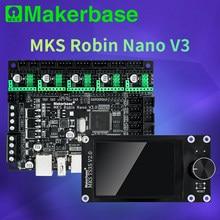 Makerbase mks robin nano v3 32bit 168mhz f407 peças de impressora 3d tela tft impressão usb vs nano v2