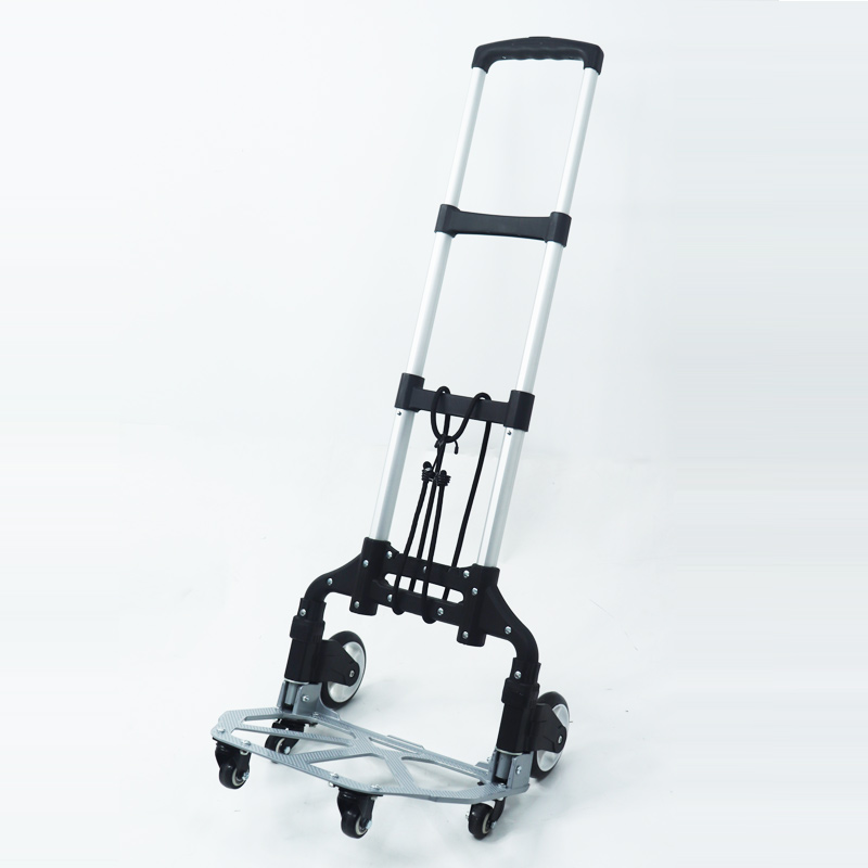 Heavy Duty Hand Truck - 150 lb. Capacity Aluminum Utility Cart with Adjustable Shaft – Moving Equipment for Luggage