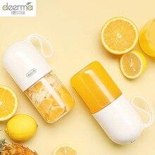 Deerma Juicer 300ml Portable Electric Blender Multipurpose Wireless Mini USB Rechargable Juice Cup Fruit Mixer for Travel