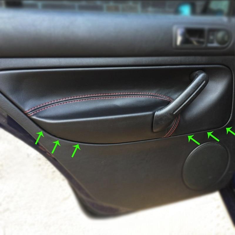 RHD For VW Golf 4 MK4 Bora Jetta 1998 1999 2000 2001 2002 - 2005 Car Door Handle Armrest Panel Microfiber Leather Cover Trim