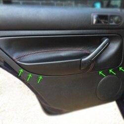 Rhd para vw golf 4 mk4 bora jetta 1998 1999 2000 2001 2002 - 2005 maçaneta da porta do carro braço painel capa de couro de microfibra guarnição