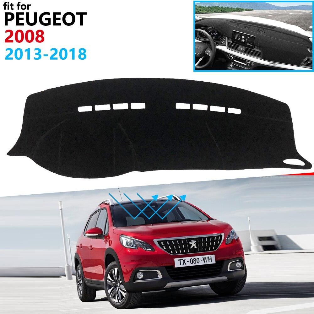 Dashboard Cover Protective Pad For Peugeot 2008 2013~2018 Car Accessories Dash Board Sunshade Carpet Anti-UV 2014 2015 2016 2017