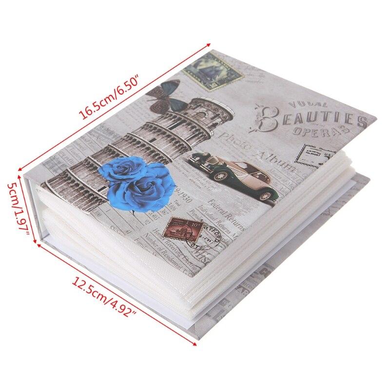 100 фотографий карманы фотоальбом интерстициальные фотографии Книга чехол ребенок памяти подарок GXMA