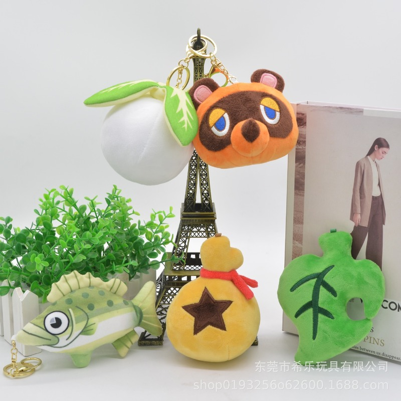 10-15cm Tom Nook Plush Toys Timmy Tommy Raccoon Brothers Dolls Animal Crossing Game Doll Birthday Gifts image
