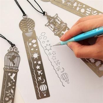 4 pcs/lot Cute Kawaii Creative Horse Birdcage Hollow Metal Bookmark Ruler For Kids Student Gift School Supplies Free Shipping 1