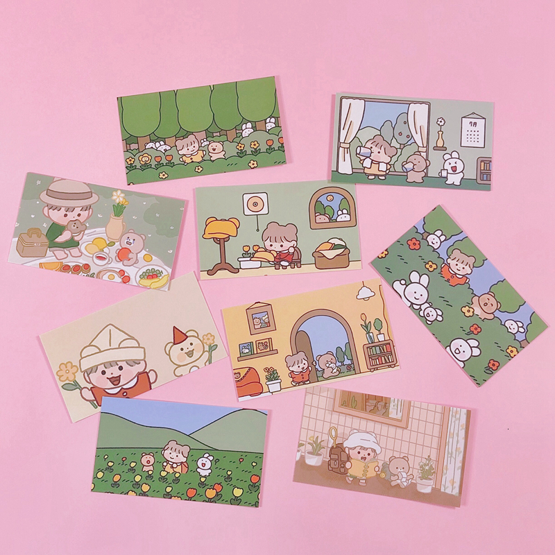 Ins Cute Style Hand Account Card Album Diary Decoration Material Wall Sticker Girl Kawaii Stationery Custom Card