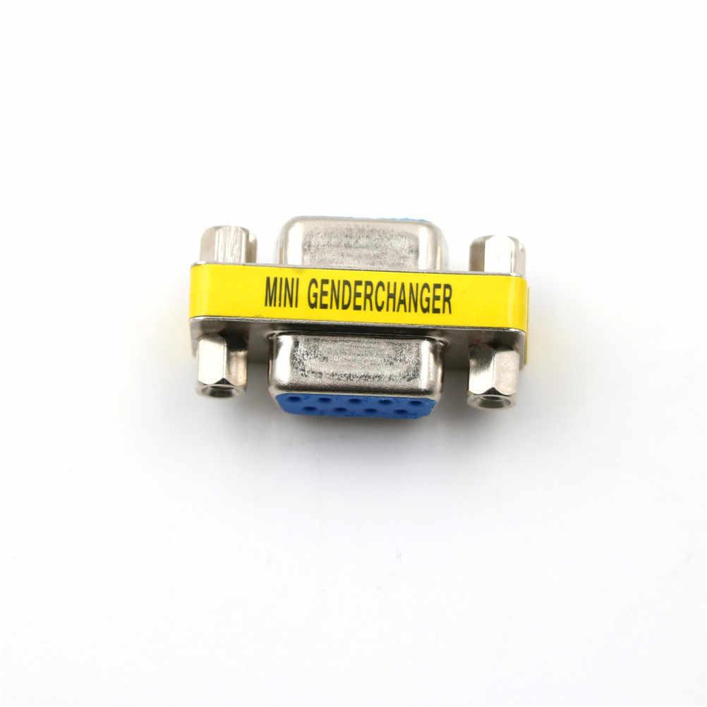 Adaptateur changeur de sexe RS232   1 pièce DB9 9pin pour femme vers homme, adaptateur changeur de sexe VGA pour homme à femme
