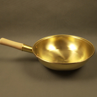 100% pure copper Wok Pan thickened copper pot brass pan pan handle cooking utensils WJ11013