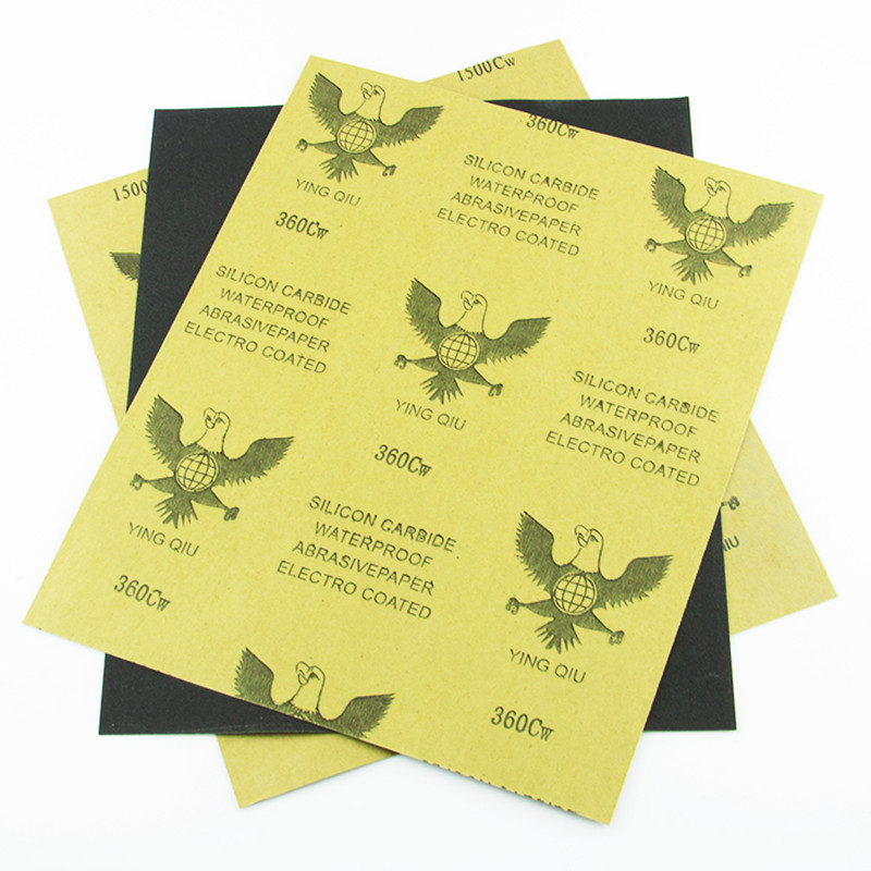 Eagle Sandpaper Water Resistant Sandpaper Waterproof Abrasive Paper 180-2000 # Polishing Sandpaper Water Sand Skin