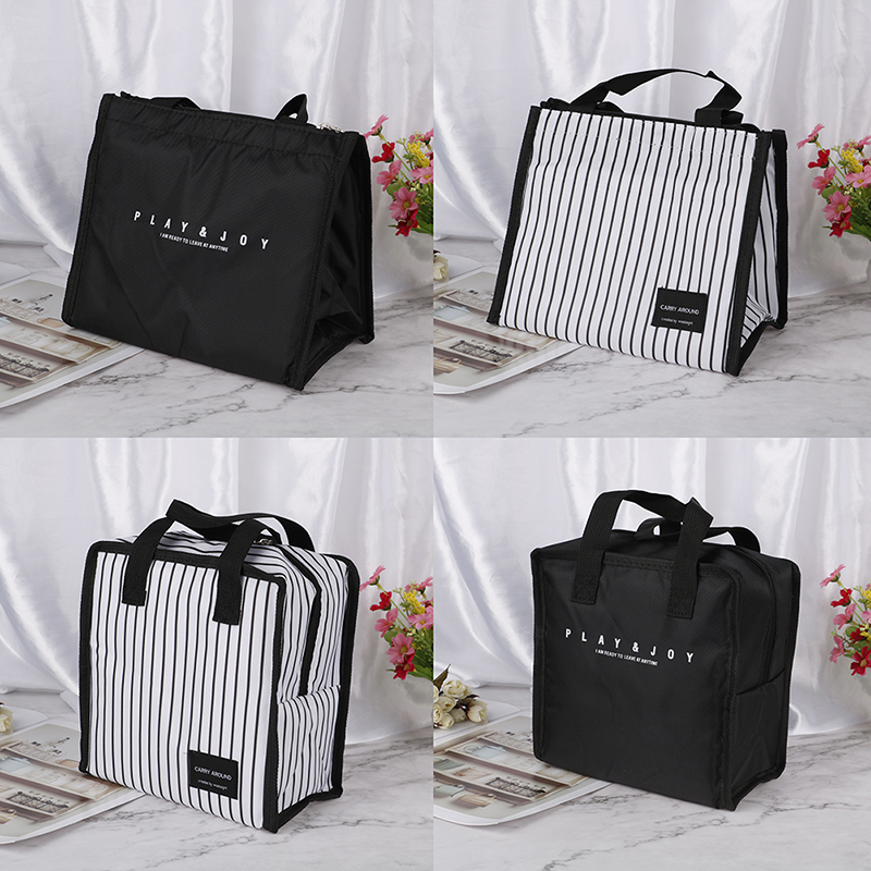 For Men Women Portable Folding Lunch Bag Tote Bags Handbag Organizer Lunch Box Lunch Storage Container Food Carrying Bags
