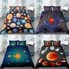 Home Living Luxus 3D Solar System Druck 2/3Pcs Komfortable Bettbezug Kissenbezug Bettw��sche-sets K��nigin und K��nig EU/US/AU Gr����