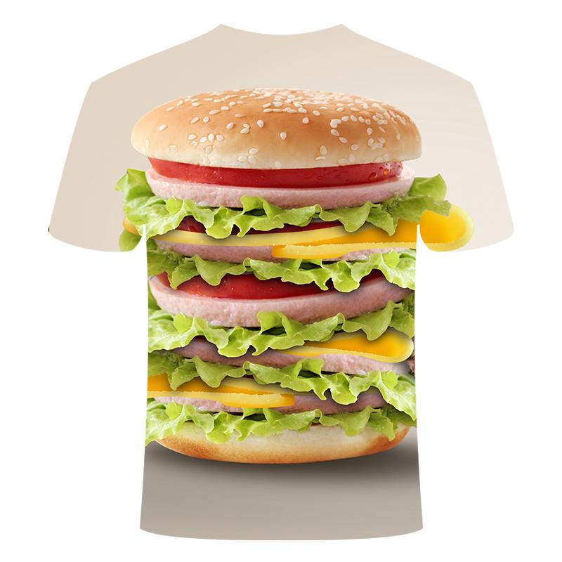 Funny men's short sleeve beer Clock 3D T-shirt, round neck large digital printed - mens-fashion