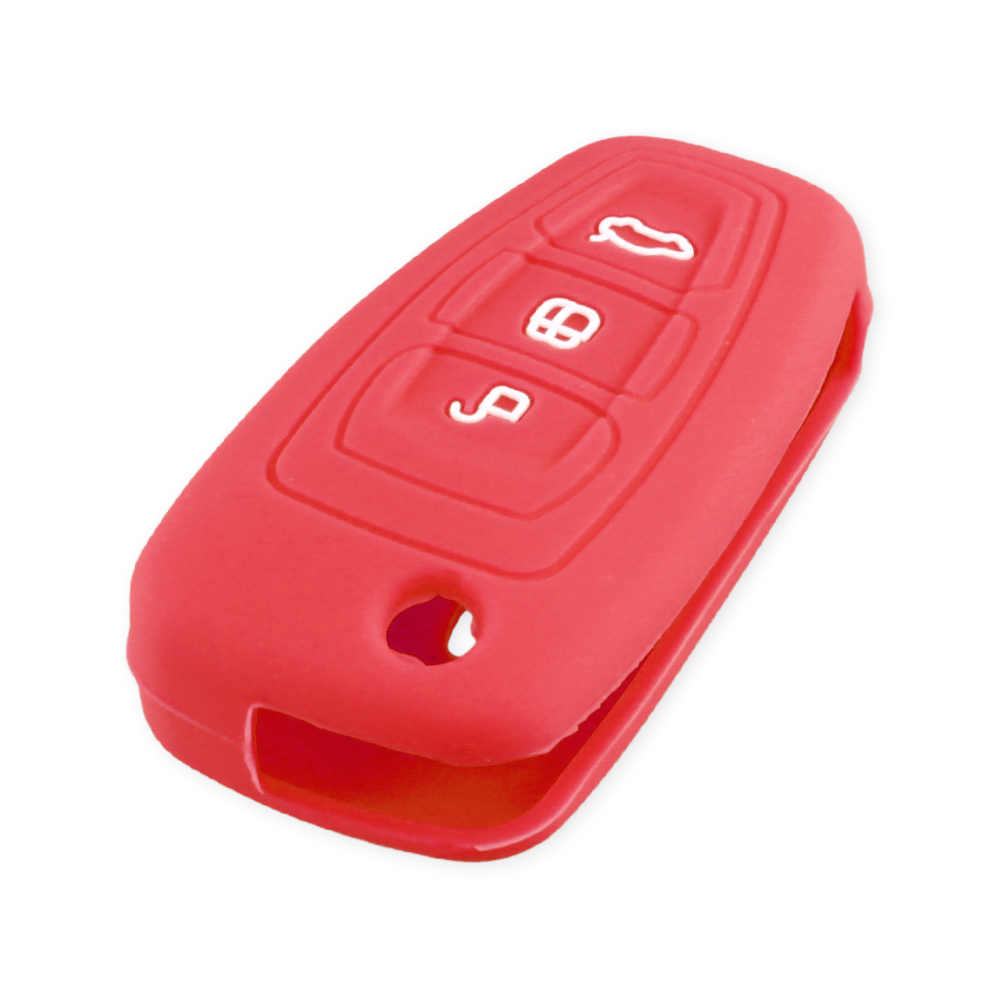 Étui KEYYOU en Silicone pour Ford Ranger c-max s-max Focus Galaxy Mondeo Transit Tourneo étui à clé pliable pour voiture