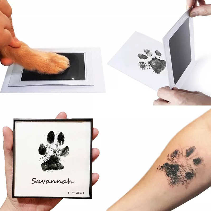 Safe Baby Footprints Handprint Ink Pads Kits Pets Care Non-toxic Ink Pads Baby Shower Paw Print Pad Foot Print Pad Baby Toys