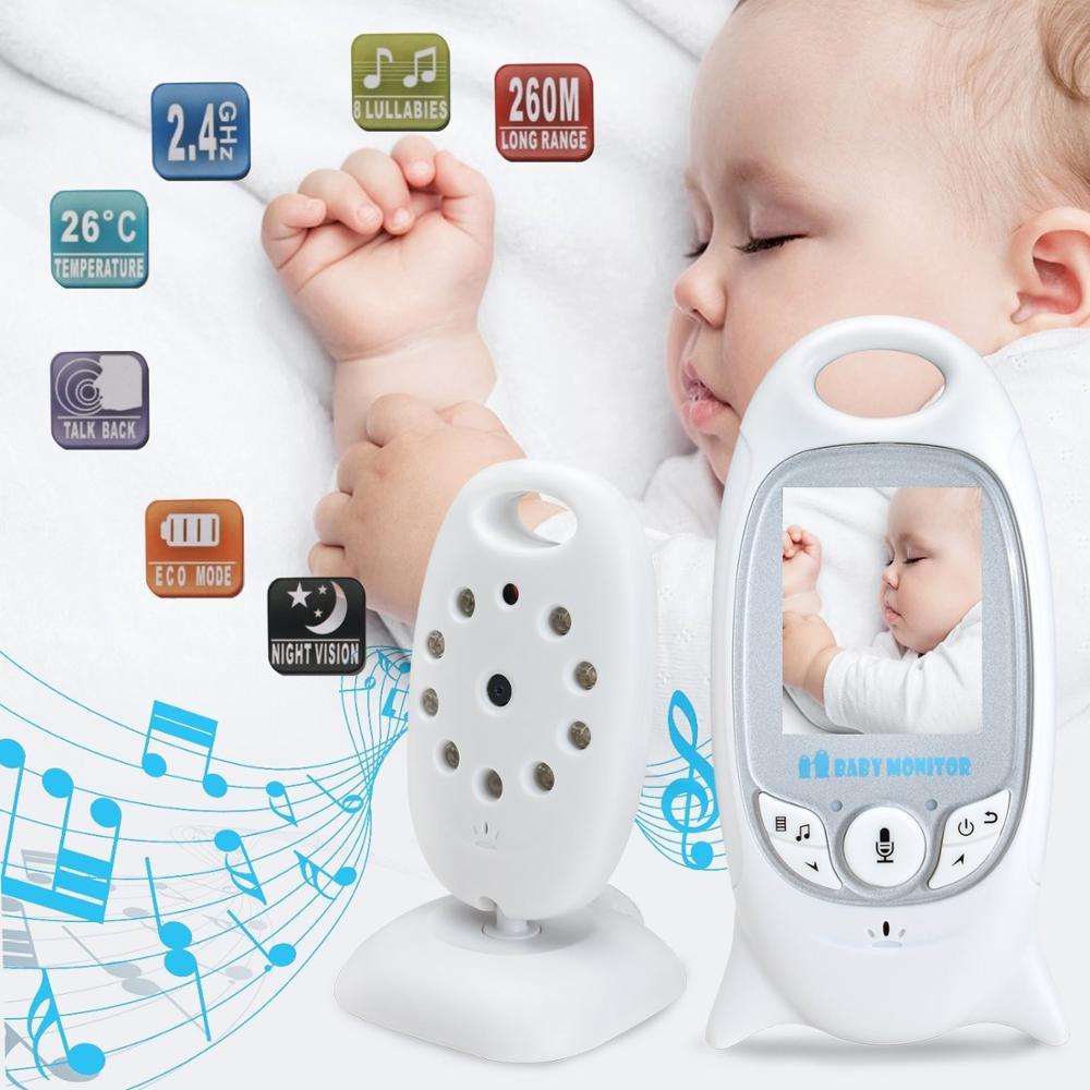 Video Baby Monitor 2 Inch BeBe Baba Electronic Babysitter Radio Video Nanny Camera Night Vision Temperature Monitoring 8 Lullaby
