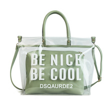 Womens Bag 2019 Large Capacity Transparent Jelly Handbag Fashion Shopping Bags Waterproof Shoulder Letter Slant