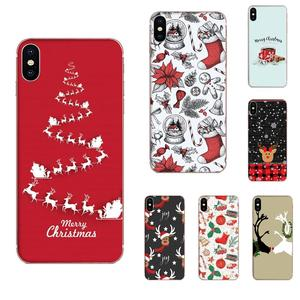 TPU Phone For Samsung Galaxy Note 8 9 10 Pro S4 S5 S6 S7 S8 S9 S10 S11 S11E S20 Edge Plus Ultra Cute Deer Christmas Sock