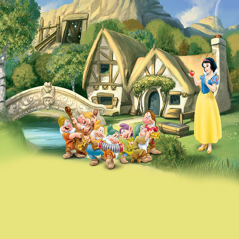 DAWNKNOW Cartoon Snow White and Seven Dwarfs Photography Background  Photocall Baby Photo Shoot Backdrops For Children lv915|Background| -  AliExpress